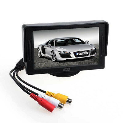 """New Car 4.3"""" TFT LCD Rearview Monitor for DVD GPS Reverse Backup Camera Thrifty"""