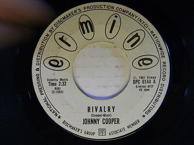 Johnny Cooper 45 RIVALRY / FOUND LOVE WITH YOU ~ VG++ pop.rock