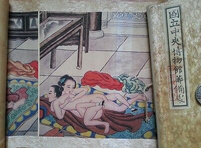 Antique Chinese scroll painting of ancient erotic figure 10 kinds of tricks