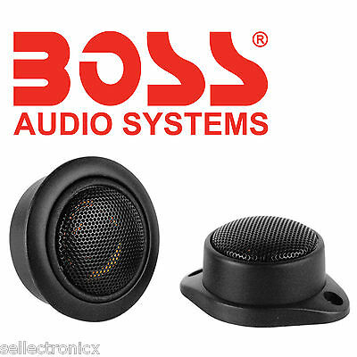 "Boss Audio Systems TW12 1"" Two-Way Micro-Dome Black Tweeter"
