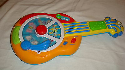 LeapFrog Baby Learn & Groove Animal Sounds Guitar Toy Musical Bilingual ~ FUN!