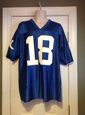 NFL Team Apparel Colts Peyton Manning Jersey #18 Size XL