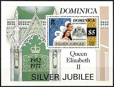 Dominica 1977 Silver Jubilee MNH M/S #R309