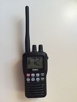 Uniden MHS75 Two-Way VHF Marine Handheld Radio, Submersible, Rechargeable,