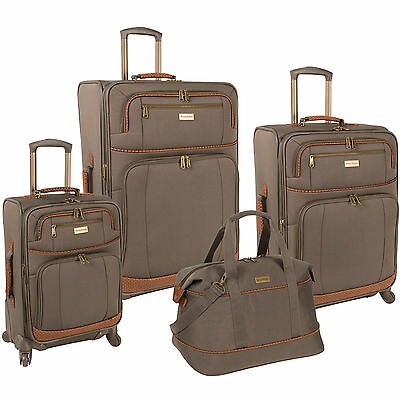 TOMMY BAHAMA MOJITO BROWNSTONE 4 PIECE SPINNER LUGGAGE SET $1280 VALUE