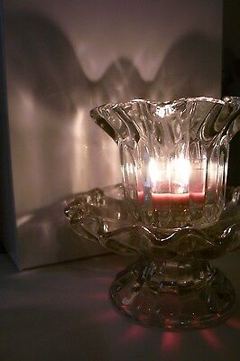 PartyLite Chantilly Pair Votive Candle Holders ~ Excellent Used Condition ~