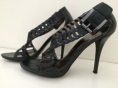 GUESS Rianne Stiletto Women's High Heels Black Leather 7.5 M