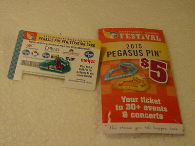 Kentucky Derby Festival Pin/ Pegasus Pin 2015 Coupon for Free Festival Glass