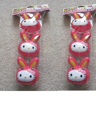 NEW NIP Lot of 6 Hello Kitty Easter Figural Bunny Shaped Eggs