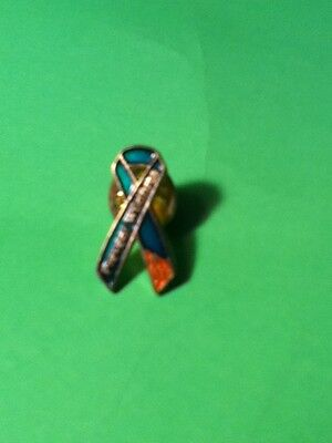 VINTAGE PREVENT WILDFIRES RIBBON COLLECTOR  PIN HARD TO FIND