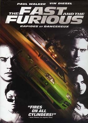 The Fast and the Furious (DVD, 2002) Paul Walker, Vin Diesel Like New