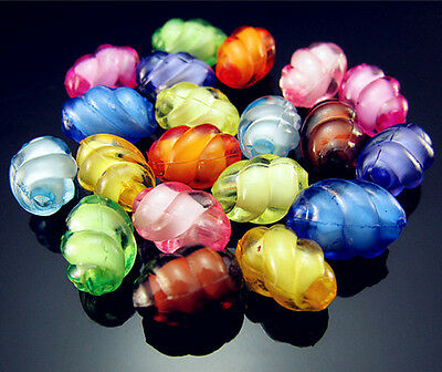 Free TOP 50PCS Mixed color Oval Cut Acrylic Rotate DIY spacer Loose beads 8mm