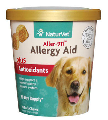 NaturVet ALLERGY AID Antioxidants Support Immune Soft Chew Dogs Cats (CUP)-70 ct