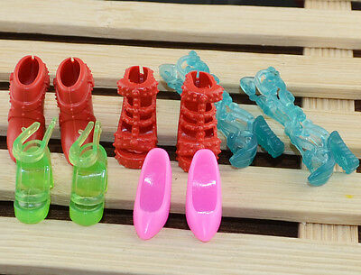 new mix 10pcs=5 Pairs Barbie clothes Accessories sexy shoes *y6