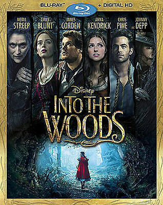 Into the Woods (Blu-ray Disc, 2015) W/ Slip cover,(No Digital Copy) / DMR Disney