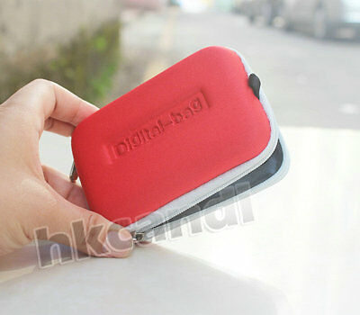 BG red white Universal Case Bag for Digital Camera Canon Sony Nikon Panasonic