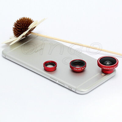 """Red Fish Eye+ Wide Angle+ Micro Lens for 5.5"""" iPhone 6 Plus 4.7"""" iPhone 6 Camera"""