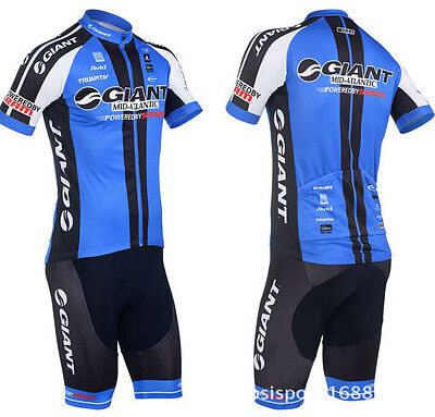 Costume-Giant-Powered-By-Sram-Cycling-Biker-Suit-Sports-T-shirt-Pant-Jersey-Tee