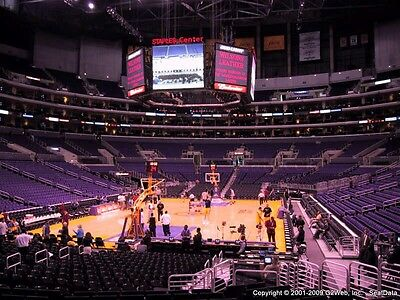 2 TICKETS LOS ANGELES LAKERS vs NEW ORLEANS PELICANS 4/1/2015 Section 115