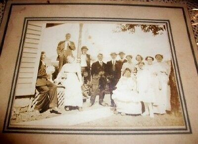 Old Vintage Antique CDV Photograph Large Group or Family Photo