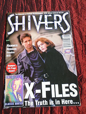 Shivers  - Horror Magazine - # 28 - X Files -Andre Morell - Lysette Anthony