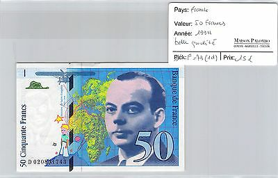 Billet France - 50 Francs 1994 - Belle Qualité !!!