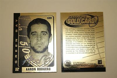 AARON RODGERS AUTOGRAPHED LIMITED ED 2008 23KT GOLD CARD! GREEN BAY PACKERS!