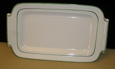 Vintage Art Deco Hand-Painted Green/White Underplate from Japan