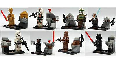 SHIPS FROM USA! LOT OF 8 STAR WARS MINIFIGURES BRAND NEW! C-3PO,DARTH VADER...