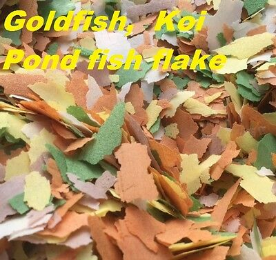 1Kg, 5Kg, 10Kg Goldfish, Koi,Outdoor Garden Pond,Coldwater Fish Food Flake Feed