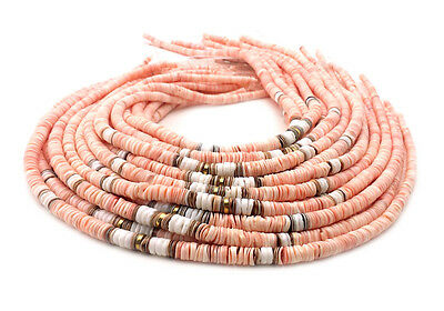 Graduated Pink Luhuanus Shell Heishi Beads Combination (16 Inches)
