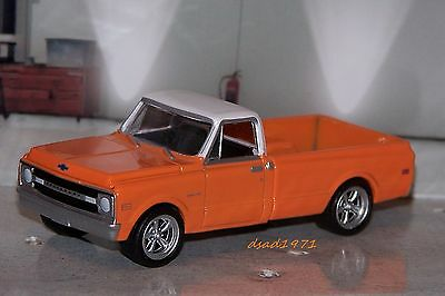 CUSTOM 1969 CHEVY C-10 PICKUP TRUCK GREENLIGHT HOT WHEELS ANY 1/64 SCALE DIORAMA