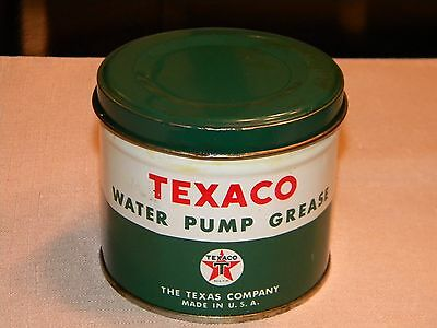 Vintage Texaco Advertizing Texaco Water Pump Grease Can New Old Stock