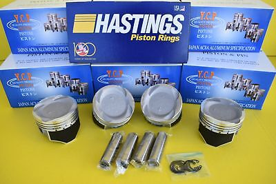 75mm YCP Vitara Pistons Coated Low Compression & Hastings Set Honda D16 TURBO