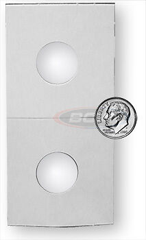 500 BCW Crystal Clear Coin Holders Paper Flips Dime Bulk - 2 x 2 - 17.9mm