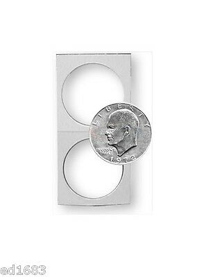 500 BCW Crystal Clear Coin Holders Paper Flips Large Dollar Bulk Window 38.5mm