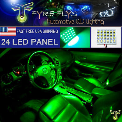 1x Super Bright Green 24 LED Panel Light for Dome, Map, Cargo Trunk lights #24PG