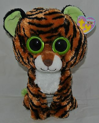 "New!  TY BEANIE BOOS ""STRIPES"" the Tiger 10"" size RETIRED"