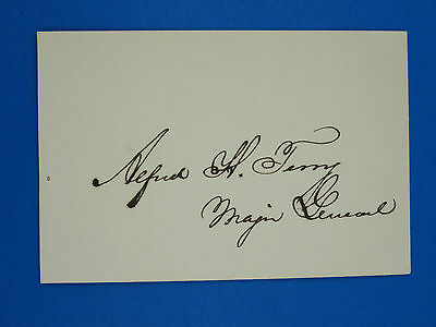 Rare Signature Of Union General Alfred Terry Autograph Paper