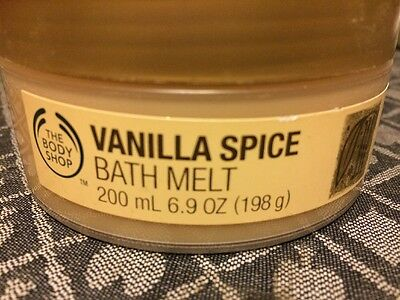 THE BODY SHOP / Bath Melt / Vanilla Spice / New / Rare /200ml 6.9oz