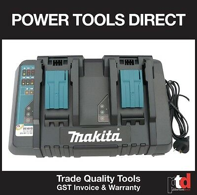 New Makita 18V Battery Charger Cordless Dc18Rd Dual - Charges Two Batteries