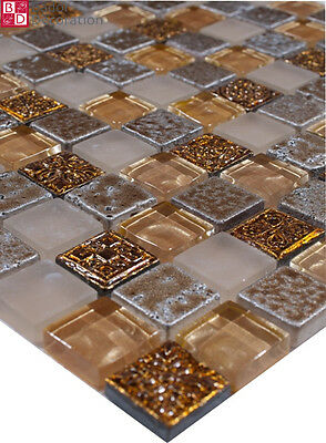 Piastrelle mosaico crossover beige 15 x 15 x 8 mm for Piastrelle 3 mm