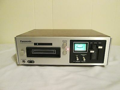 VINTAGE PANASONIC 8 TRACK TAPE PLAYER RECORDER DECK RS-805US NICE