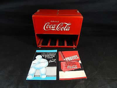 1930s Kay Display Coca - Cola Salesman's Sample Cooler with Pamphlet **RARE**