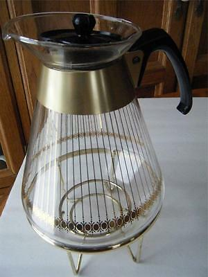 Vintage Pyrex Corning Glass Works ~ Coffee/Tea Carafe ~ 10 cup ~ Pot/Lid/Stand