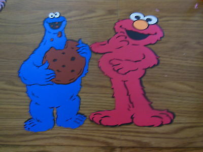 Elmo and Cookie monster die cuts,sesame street,party,banner,birthday