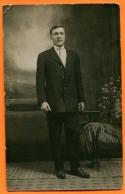Portrait of a Young Man, circa 1910s Real Photo Post Card