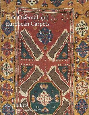 Sotheby's NY Fine Oriental and European Carpets 12/13/96  Auction Catalog
