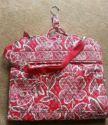 VERA BRADLEY Rosey Posey Garment Bag Quilted Luggage NEW 10618