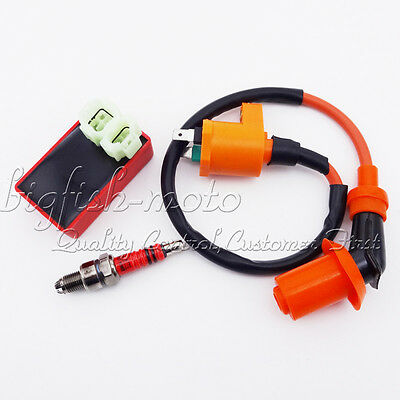50 125 150 cc Engine Racing Ignition Coil CDI Spark Plug A7TC GY6 Moped Scooter